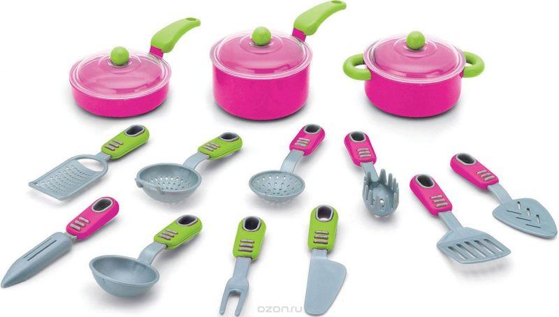Keenway Игрушечный набор посуды Моя кухня 16 предметов