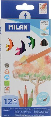 Milan Набор цветных акварельных карандашей 12 шт