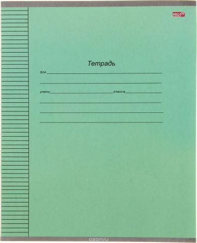 Profit Тетрадь Стандартная 12 листов в линейку цвет зеленый