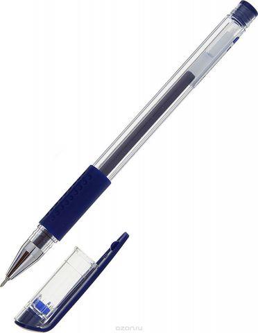 Deli Ручка гелевая цвет корпуса прозрачный синяя 1272931
