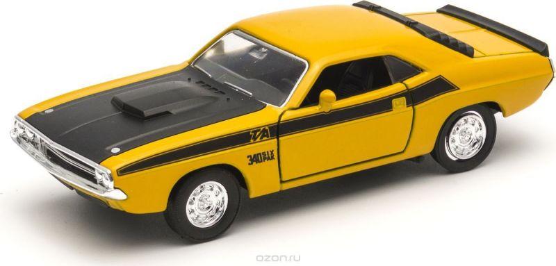 Welly Модель автомобиля Dodge Challenger 1970 цвет желтый