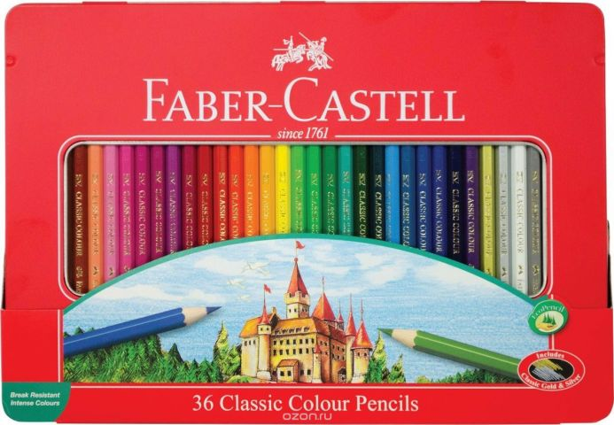 Faber-Castell Набор цветных карандашей Замок 36 цветов