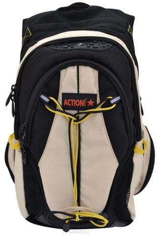 Action! Рюкзак цвет бежевый черный