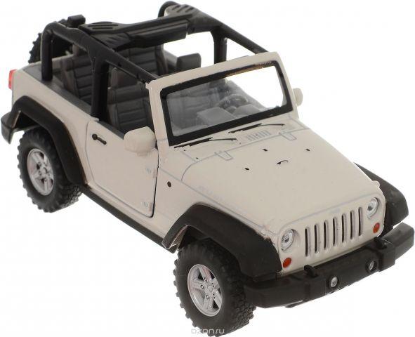 Welly Модель автомобиля Jeep Wrangler Rubicon цвет белый