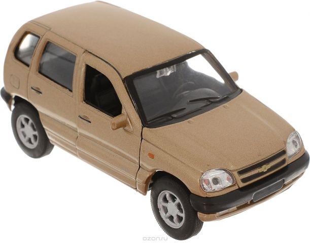 Welly Модель автомобиля Chevrolet Niva цвет золотистый