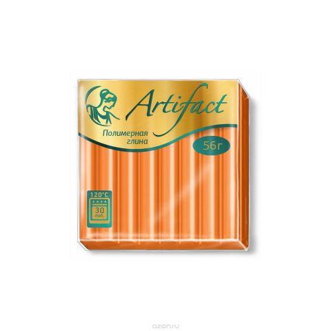 """Полимерная глина """"Артефакт"""", классическая, цвет: апельсиновый, 56 г"""