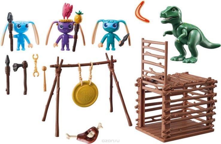 Playmobil Игровой набор Инопланетный воин с Т-рекс ловушкой