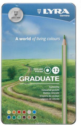 Lyra Набор цветных карандашей Graduate 12 шт L2871120