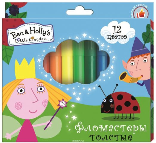 Ben&Holly Набор фломастеров Бен и Холли толстые 12 цветов