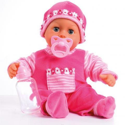Bayer Design Пупс Малыш - мои первые слова цвет розовый 38 см