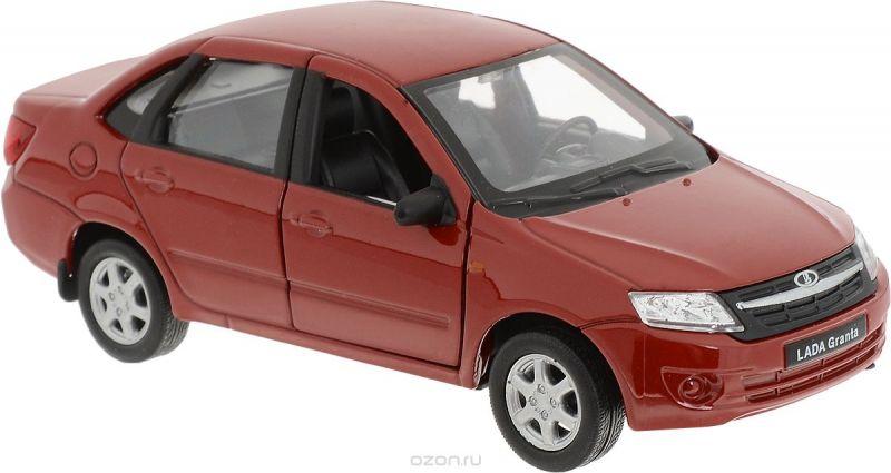 Welly Модель автомобиля LADA Granta цвет красный