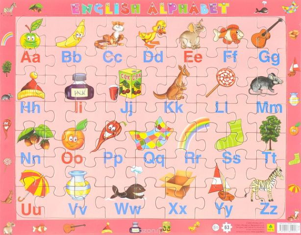 English Alphabet. Пазл