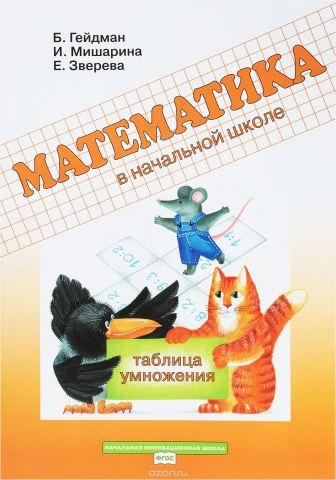 Математика в начальной школе. Рабочая тетрадь. Таблица умножения