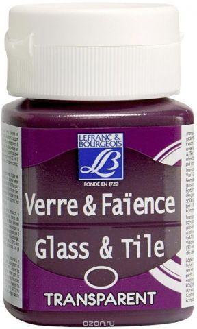 """Краска по стеклу и керамике Lefranc & Bourgeois """"Glass&Tile"""", непрозрачная, цвет: индийская роза (407), 50 мл"""
