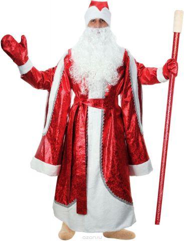 """Карнавальный костюм Страна Карнавалия """"Дед Мороз"""", цвет: красный. Размер 52/54"""