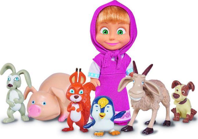 Simba Игровой набор с куклой Маша с друзьями-животными
