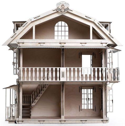 Lemmo Сборная деревянная модель Большой дом для кукол
