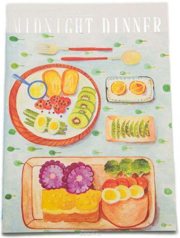 Еж-стайл Тетрадь Midnight Dinner 38 листов в линейку цвет голубой