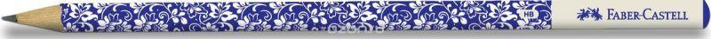 Faber-Castell Карандаш чернографитный Floral цвет синий белый