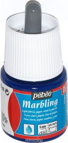 Pebeo Краска Marbling для техники Эбру цвет циан 45 мл