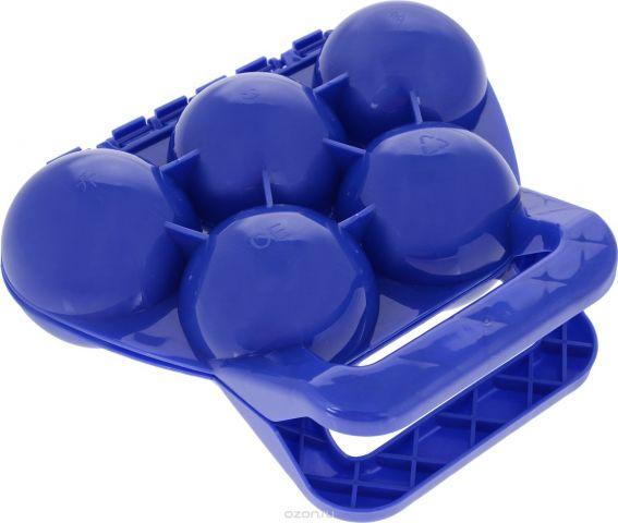 Зимние забавы Снежколеп 5 ячеек цвет синий