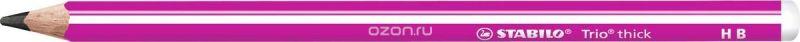 STABILO Карандаш чернографитный Trio 399 цвет корпуса розовый