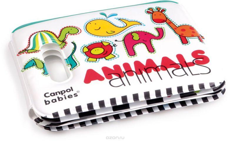 Canpol Babies Мягкая книжка-игрушка Colourful Animals с пищалкой