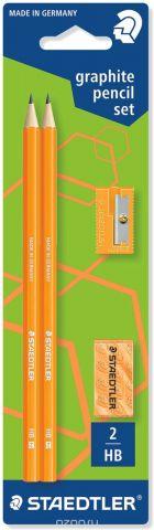Staedtler Набор чернографитных карандашей Wopex 2 шт с ластиком и точилкой цвет оранжевый
