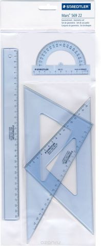 Staedtler Геометрический набор цвет прозрачный 4 предмета 56922