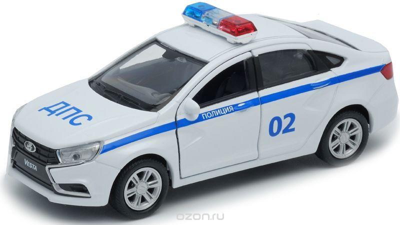 Welly Модель автомобиля LADA Vesta полиция ДПС
