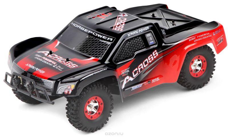 Wltoys Машинка на радиоуправлении 4WD Truck 12423 цвет черный красный масштаб 1:12