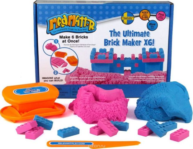 Mad Mattr Набор для лепки The Ultimate Brick Maker X6