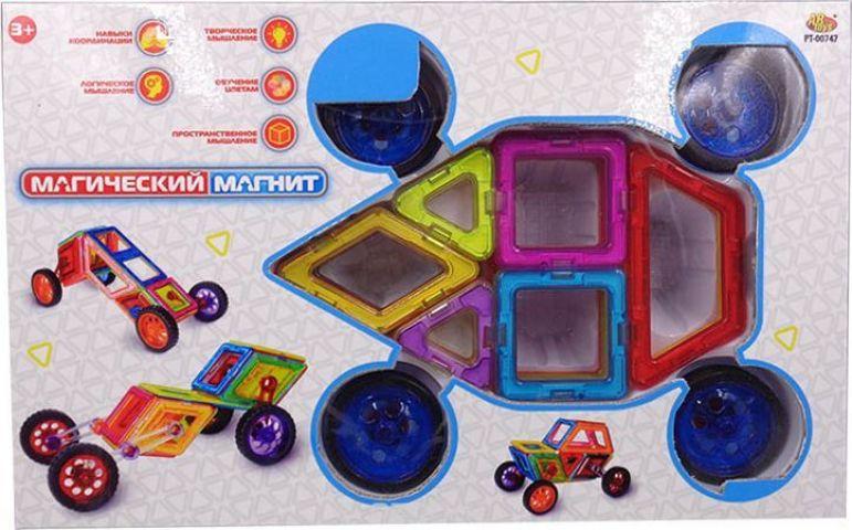 ABtoys Магнитный конструктор Магический магнит 46 деталей