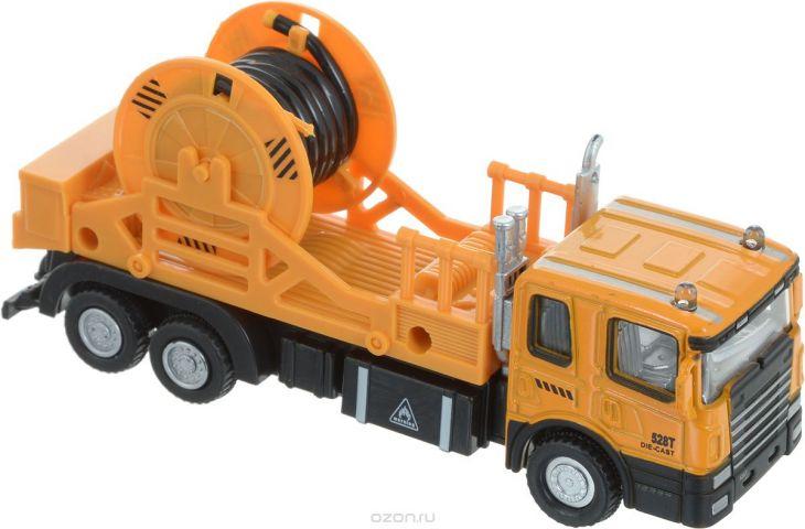Autotime Машинка с катушкой цвет оранжевый