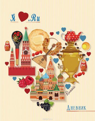Апплика Дневник школьный Российская символика-28