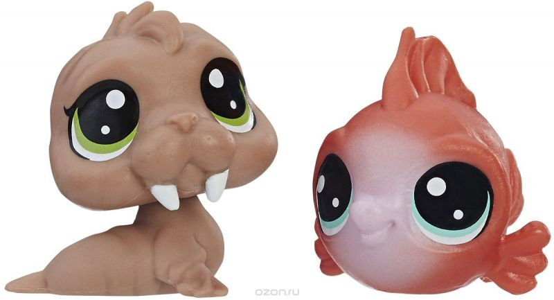 Littlest Pet Shop Набор фигурок Wally Walrd & Eda Redfish
