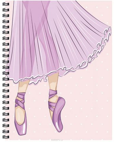 Expert Complete Тетрадь Compliment Ballet 96 листов цвет светло-розовый формат A5