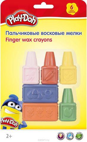 """Набор восковых мелков Play-Doh """"PDEB-US1-CRB-SET"""", пальчиковые, 6 цветов"""