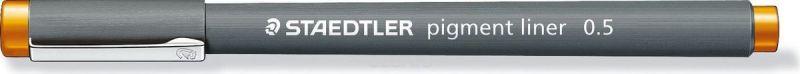 Staedtler Ручка капиллярная Pigment Liner 308 0,5 мм цвет чернил оранжевый