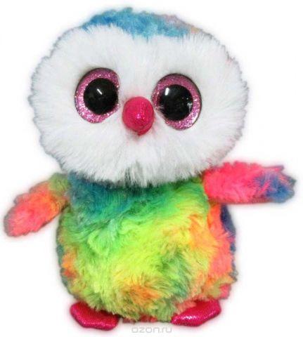 Teddy Мягкая игрушка Совенок цвет разноцветный 15 см