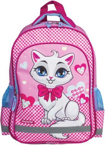 Пифагор Рюкзак детский Белая кошка цвет розовый белый голубой