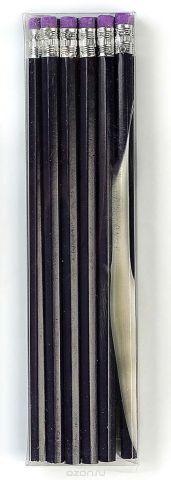 Calligrata Карандаш чернографитный с ластиком твердость HB цвет корпуса фиолетовый 2864384