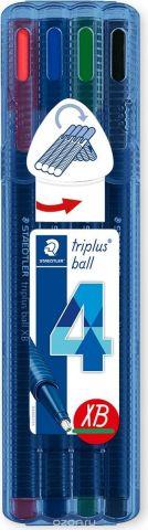 Staedtler Набор шариковых ручек Triplus Ball Яркие цвета 4 цвета
