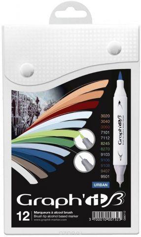 Graph'It Набор маркеров Brush городские цвета 12 шт