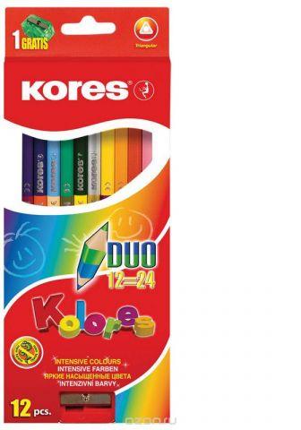Kores Набор цветных карандашей с подарком