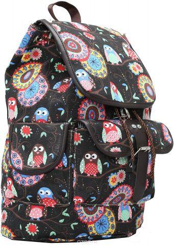 Рюкзак детский Совы цвет коричневый 2317551