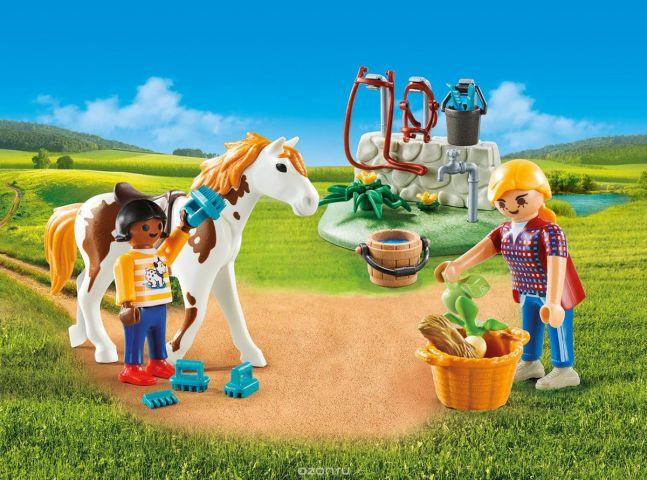 Playmobil Игровой набор Возьми с собой Стрижка лошадей