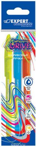 Expert Complete Набор шариковая ручек Neon Drive (blue+orange+green) 07 мм 3 шт цвет чернил синий