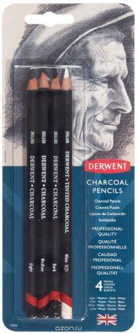 Derwent Набор угольных карандашей Charcoal 4 шт