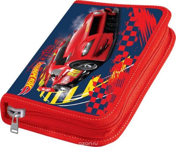 Mattel Пенал Hot Wheels с наполнением 15 предметов